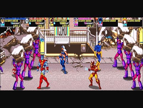 X-Men Arcade Videojuego Sentinels